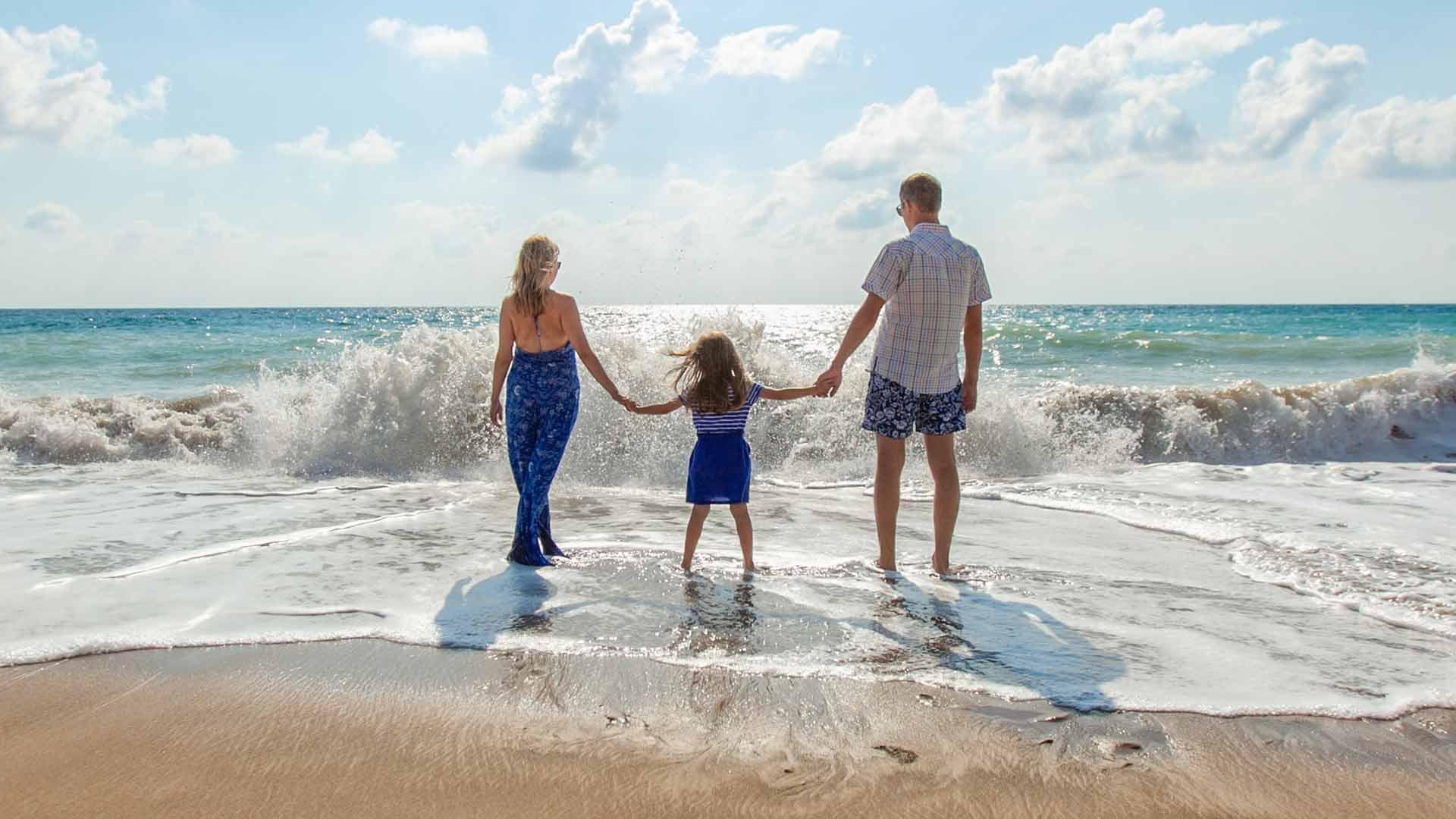 Family n he beach